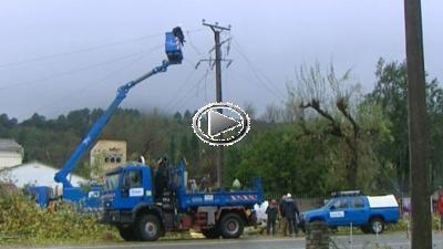 Gard : équipes d'intervention d'urgence d'ERDF