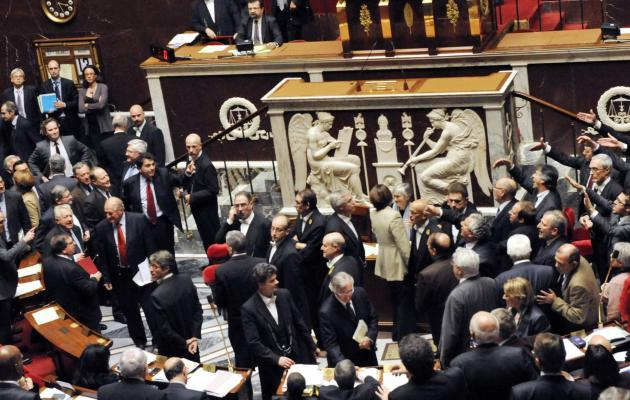 Bronca au Parlement