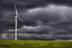 éolienne-orage