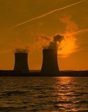 nucléaire coucher soleil