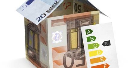 billets de banque et échelle des indices d'efficacité énergétique
