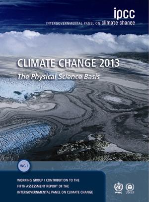 couverture du rapport 2013 du GIEC sur le changement climatique